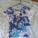 Fashion Bug Floral Print Women's Shirt Size XL