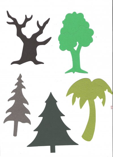 Sizzix Assorted Tree's, bare, green, Christmas, more...