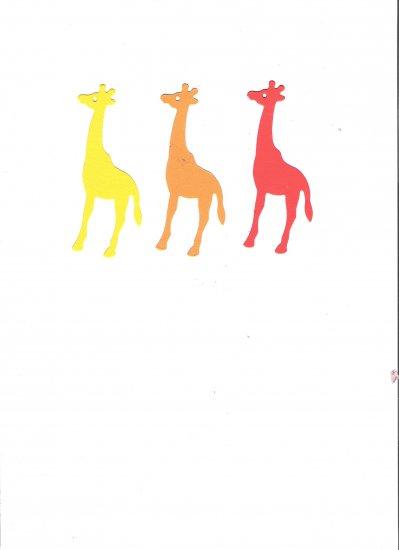 Sizzix Giraffe's