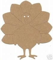 Turkey  die cuts  Thanksgiving  Large Red Sizzix  #38-0248