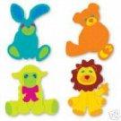 Stuffed Animals, teddy bear, lion, sheep, bunny Sizzix Thin Cuts  Ellision