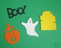 Halloween Set , ghost, boo, tombstone, jack-o-lantern, Sizzix Sizzlit