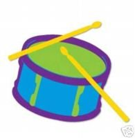 Drum and Sticks die cuts   Band Music  Ellision Sizzix Thin Cuts