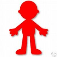 Doll Body, Large Red Sizzix