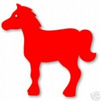 Horse, Large Red Sizzix