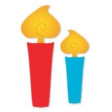 Candles, Medium Yellow Sizzix