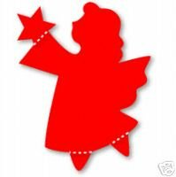 Angel, Religion, God, Christmas, Large Red Sizzix