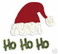 Ho Ho Ho, santa hat, Christmas, Sizzix Sizzlit