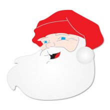 Santa Head, Christmas, Sizzix Thick Cut