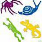 Bugs and Friends die cuts  gecko leaping frog spider snail  Ellision Sizzix Sizzlits #38-9616