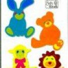 Stuffed Animal Set, Sizzix Sizzlits Dies, bunny, bear, lion, lamb