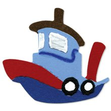 Tugboat  tug boat  baby toy  Ellison Sizzix Sizzlit