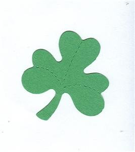 Shamrock die cuts  clover  St. Patrick's Day  Small Green Sizzix #38-0702