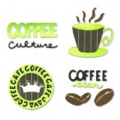 Coffee Time Set die cuts  Sizzix #654786
