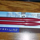 Lot of 2 packs Maybelline Expert 102 Dk Brown Twin Brow and Eye Pencil #350