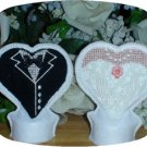 Bride and Groom Tea Light Covers 4x4 Machine Embroidery Designs