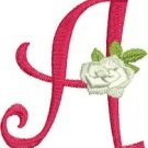 Curlz and Roses Monogram Machine Embroidery Designs