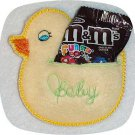 Baby Ducky Treat Holders Machine Embroidery Designs