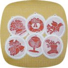 Fabric and Lace Christmas Ornaments 4x4 Machine Embroidery Designs
