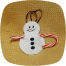 Snowman Candy Cane Holder 4x4 Machine Embroidery Designs