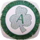 Clover Fringe Monogram Coasters Machine Embroidery Designs