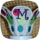Tea Light Candle Shade Mod Dots 5x7 Machine Embroidery Designs