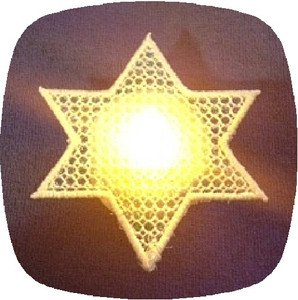 FSL Mylar Star Of David Tea Light Accent Machine Embroidery Designs