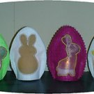 Easter Egg Cutout Tea Light Covers Machine Embroidery Designs