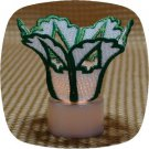 Christmas Tree Cutout Tea Light Shade Machine Embroidery Designs