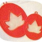 FSL Organza Leaf Suncatcher Machine Embroidery Designs