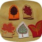 Fall Leaf Tea Light Covers 4x4 Machine Embroidery Designs