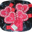 Heart Monogram Keyring Machine Embroidery Designs