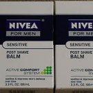 Lot of 2 Mens NIVEA Post Shave Balm  3.3 Fl Oz each + Nivea Face Wash  #103