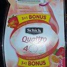 Schick Quattro Razors w/Bonus Razor  FREE SHIPPING~~~ #024