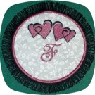 Crazy Heart Fringe Coasters 5x7 Machine Embroidery Designs