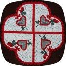 4x4 V Heart Doily Machine Embroidery Designs