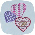 3 Heart Font 4x4 Machine Embroidery Designs