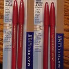 Lot of 2 Maybelline Expert Eyes Twin Brow and Eye Pencil #107 BLONDE  #351