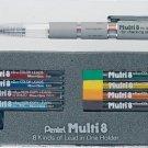 Pentel Multi 8 Schreiber, 6er-Farbset (Japan Import)