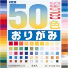 50-color Origami Paper Set  (Japan Import)