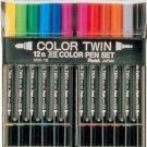 Pentel twin color pen 12 colors set SCW-12 (japan import)