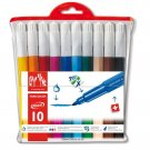 Caran d Ache - Fancolor Fiber Tipped Pens Maxi Diameter 10 Colors
