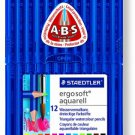 Staedtler Inc - Ergosoft Watercolor Pencils/ Set of 12 Colors in Stand-up Easel