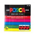 Uni POSCA PC8K15C Paint Marker Pen Bold Point Set of 15 colors