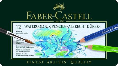 Faber Castell Albrecht Durer 12 Watercolor Pencil Set Tin