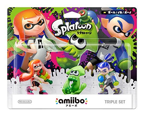Nintendo Wii U 3DS Amiibo Squid / Girl / Boy 3set Super Smash Bros.