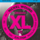DAddario EXL170M Nickel Wound Bass Guitar Strings Light 45-100 Medium Scale