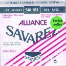Savarez 540R Alliance Classical Guitar Strings Standard Tension Red Card