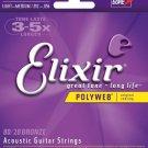 Elixir WL Gore & Associates Acoustic Guitar 6 String LightMedium POLYWEB Coating