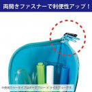Kokuyo Co. Pen Case Neokurittsu White Blue Plaid x Inside - Pink F-vbf131-3